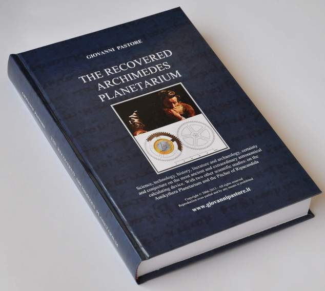 Book by Giovanni Pastore - THE RECOVERED ARCHIMEDES PLANETARIUM
